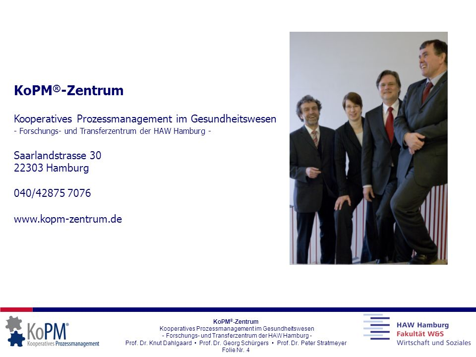 KoPM®-Zentrum Kooperatives Prozessmanagement im Gesundheitswesen