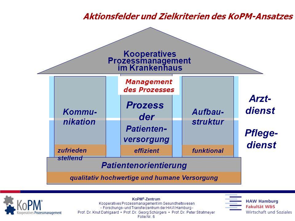 Aktionsfelder und Zielkriterien des KoPM-Ansatzes
