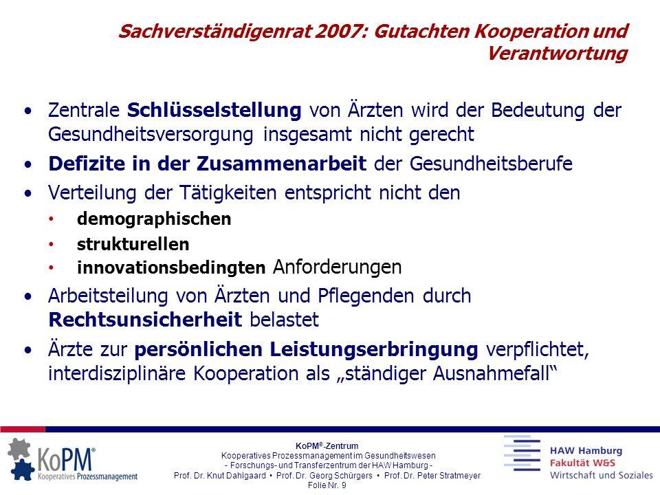 Sachverständigenrat 2007: Gutachten Kooperation und Verantwortung
