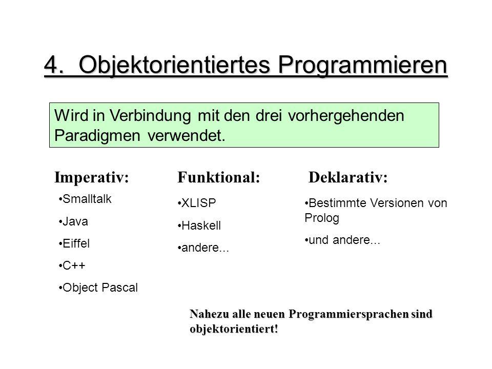 4. Objektorientiertes Programmieren