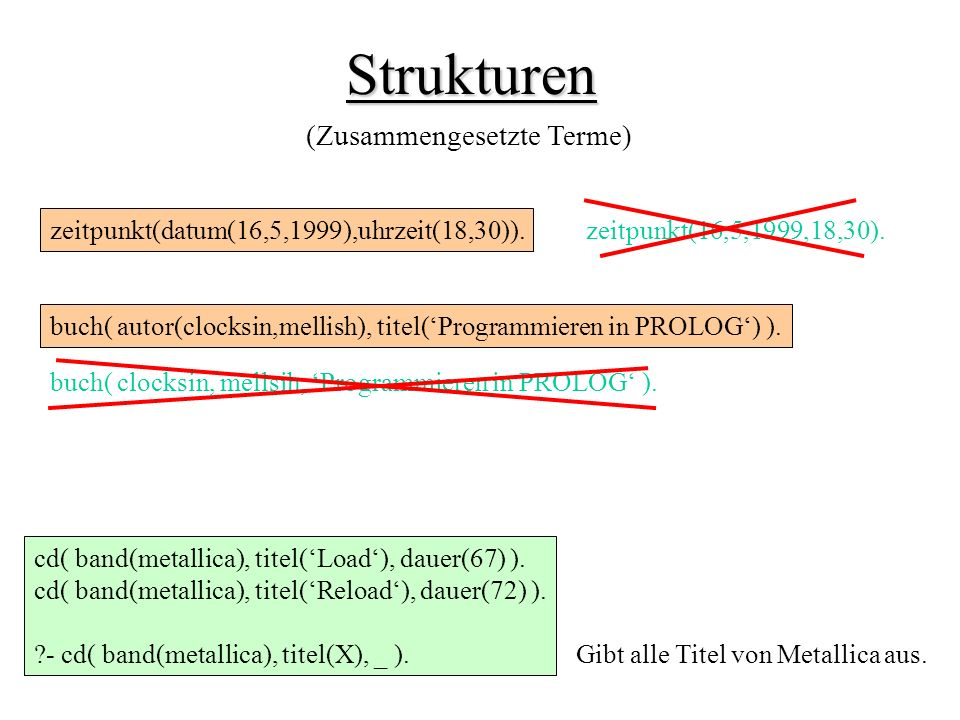 Strukturen (Zusammengesetzte Terme)