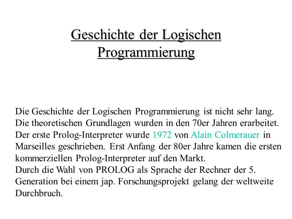Geschichte der Logischen Programmierung