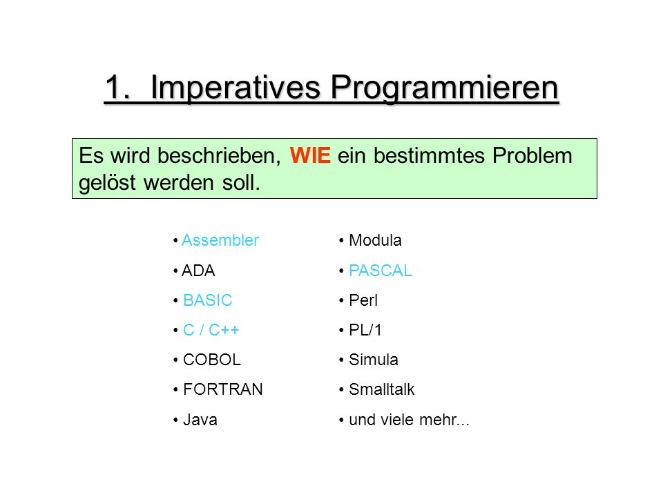 1. Imperatives Programmieren