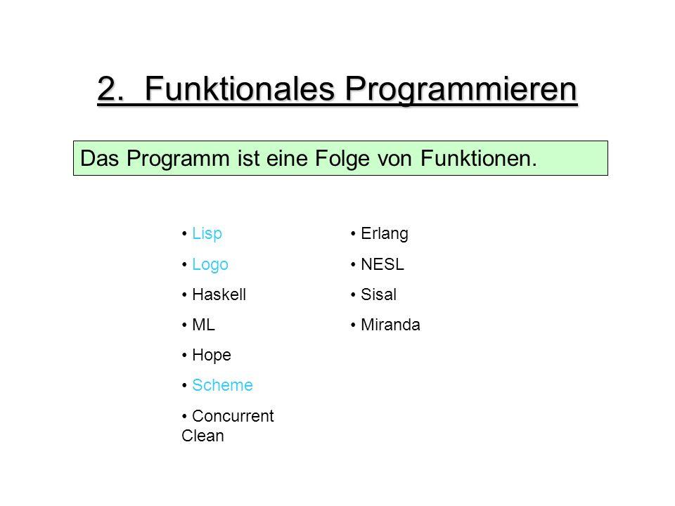2. Funktionales Programmieren