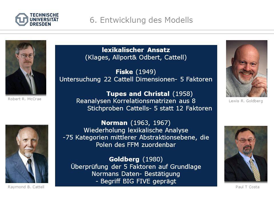6. Entwicklung des Modells