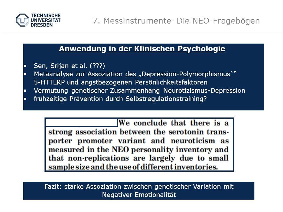 Anwendung in der Klinischen Psychologie