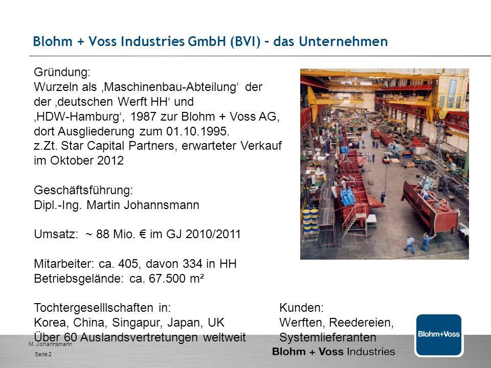 Blohm + Voss Industries GmbH (BVI) – das Unternehmen
