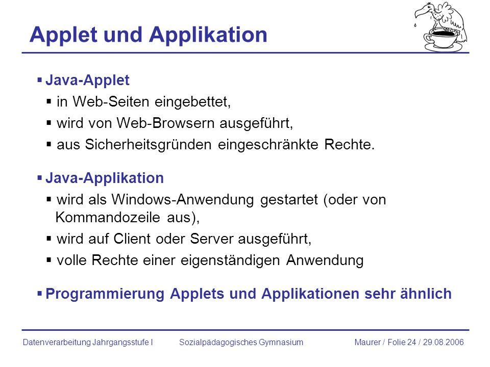 Applet und Applikation