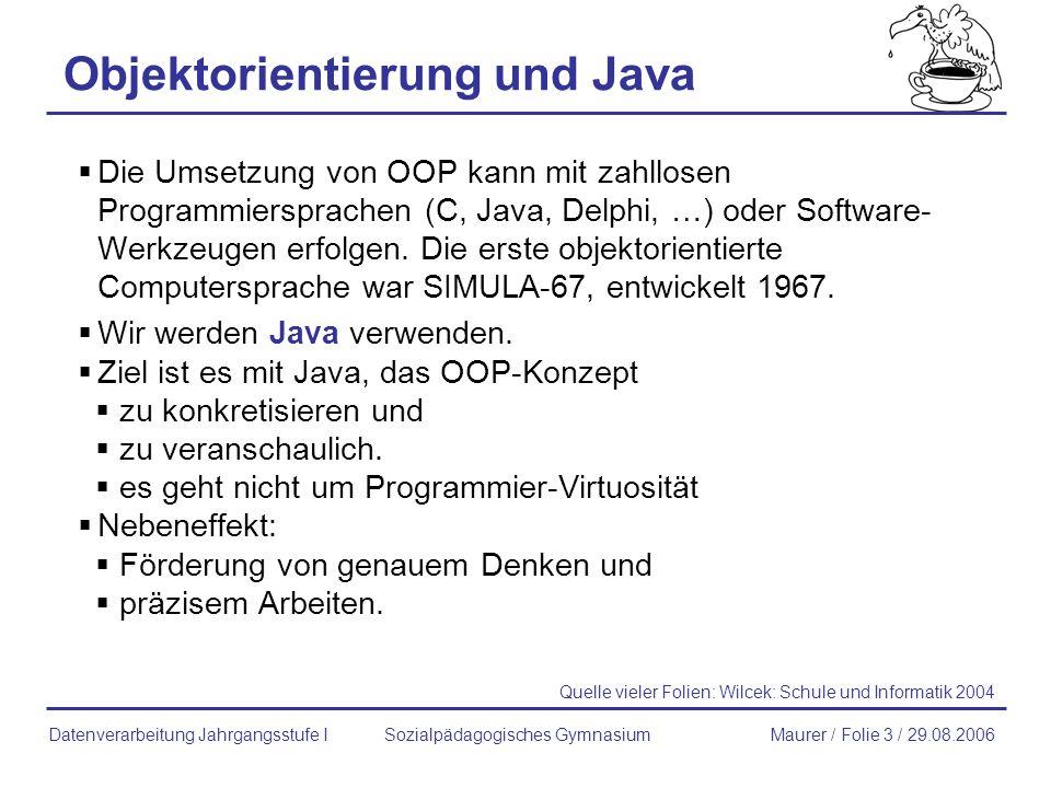 Objektorientierung und Java