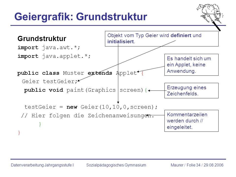 Geiergrafik: Grundstruktur