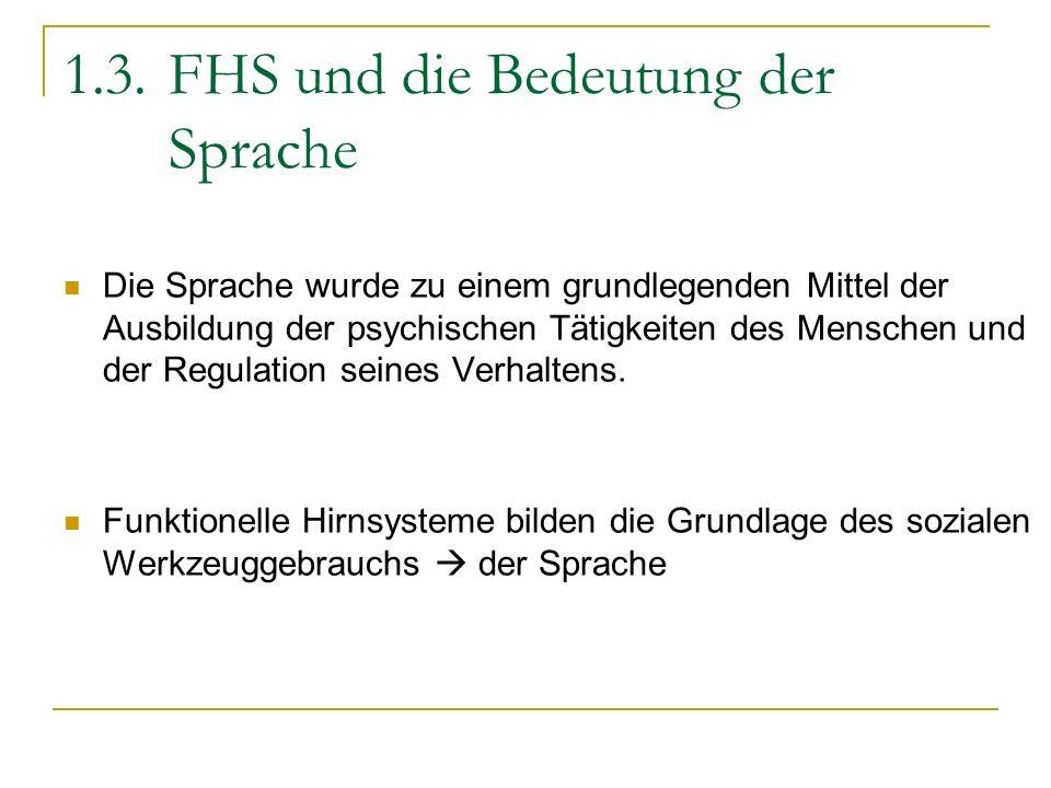 1.3. FHS und die Bedeutung der Sprache