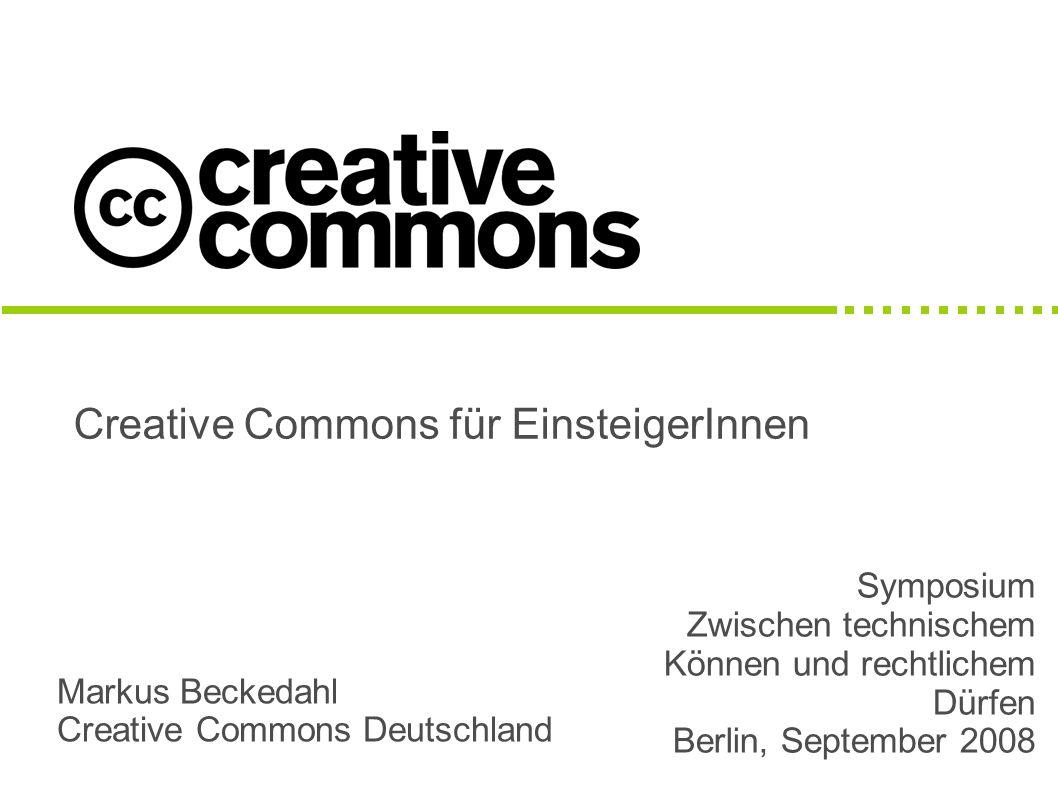 Creative Commons für EinsteigerInnen