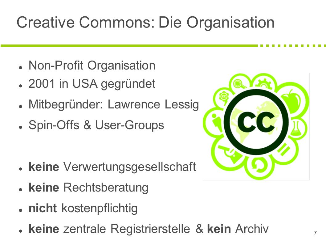 Creative Commons: Die Organisation