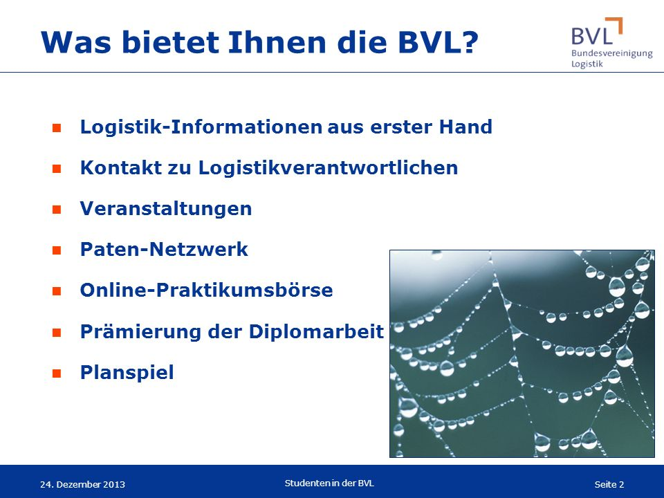 Was bietet Ihnen die BVL