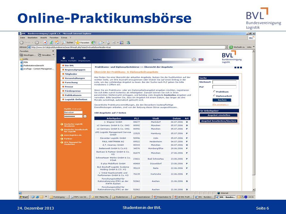 Online-Praktikumsbörse