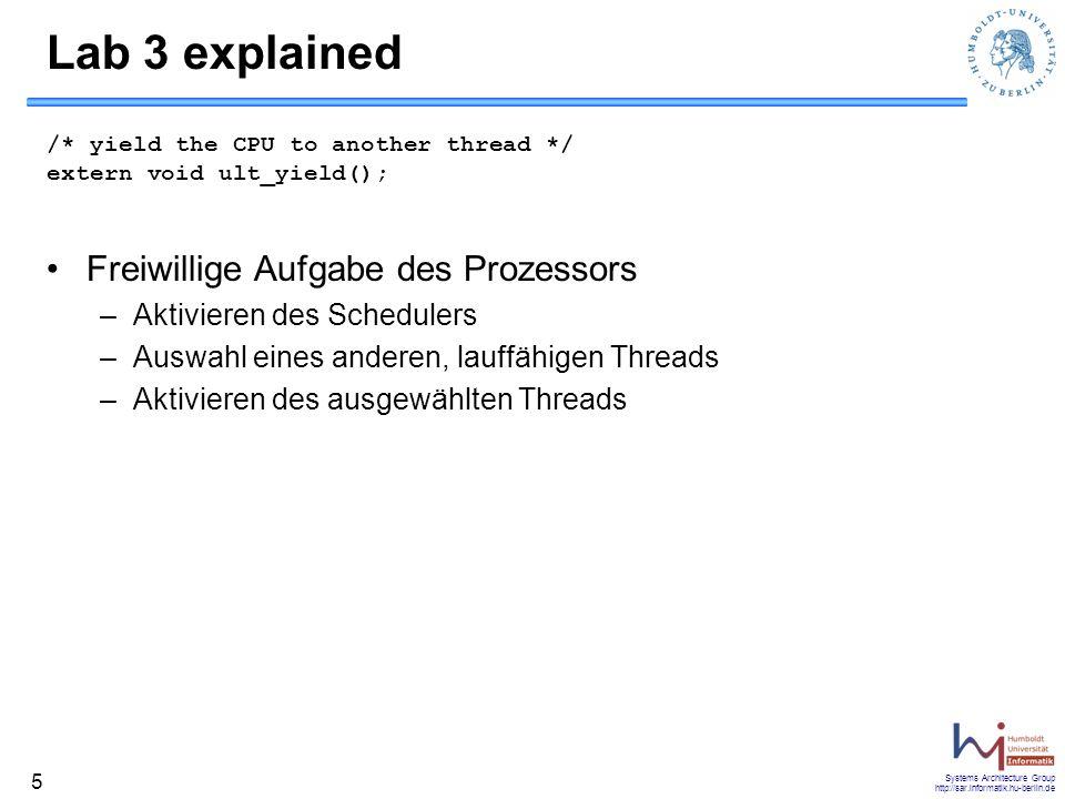 Lab 3 explained Freiwillige Aufgabe des Prozessors