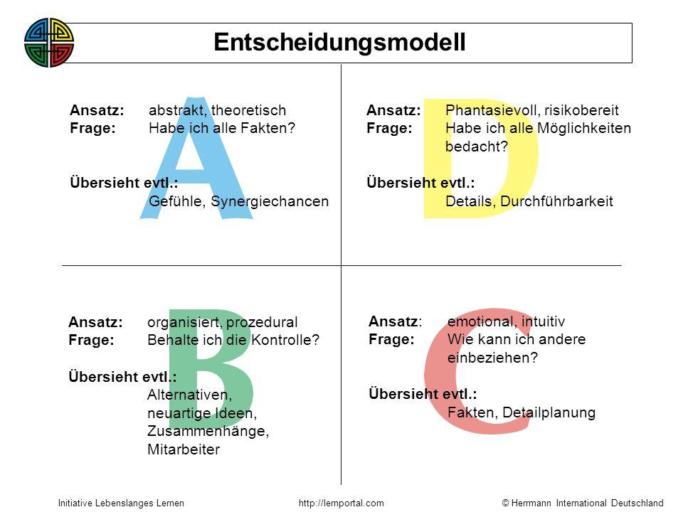Entscheidungsmodell Ansatz: abstrakt, theoretisch
