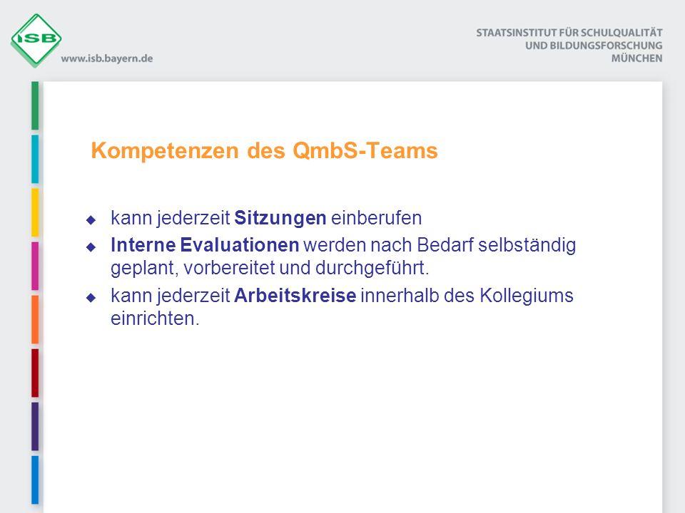 Kompetenzen des QmbS-Teams