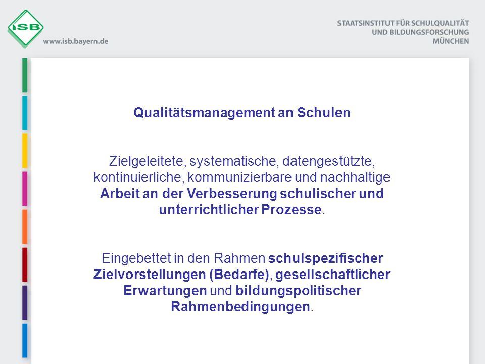 Qualitätsmanagement an Schulen