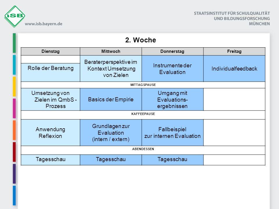 2. Woche Beraterperspektive im Kontext Umsetzung von Zielen