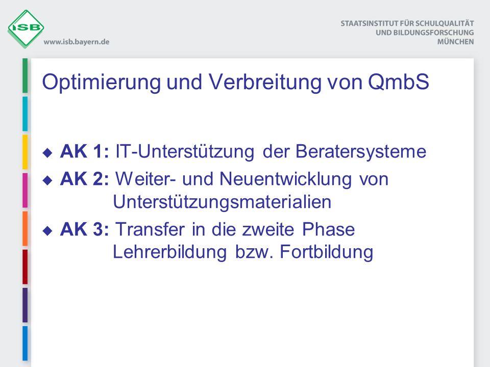 Optimierung und Verbreitung von QmbS