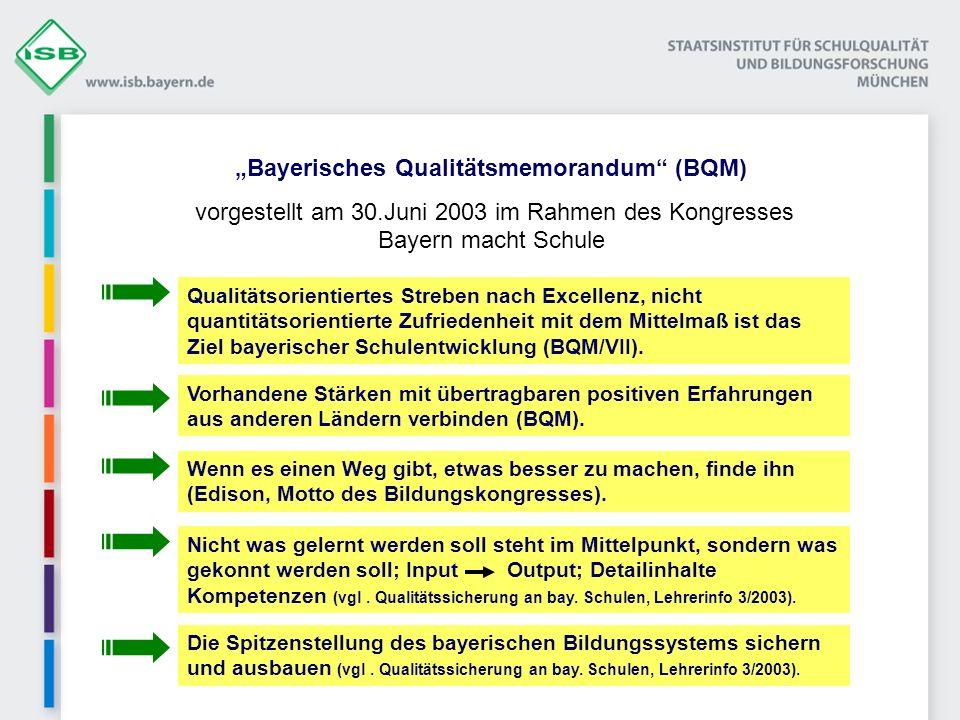 """""""Bayerisches Qualitätsmemorandum (BQM)"""