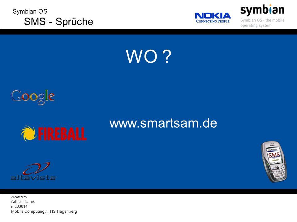 WO www.smartsam.de SMS - Sprüche Symbian OS Arthur Harnik mc03014