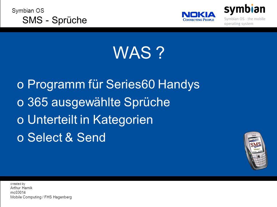WAS Programm für Series60 Handys 365 ausgewählte Sprüche