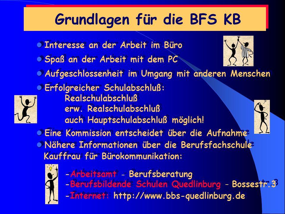 Grundlagen für die BFS KB
