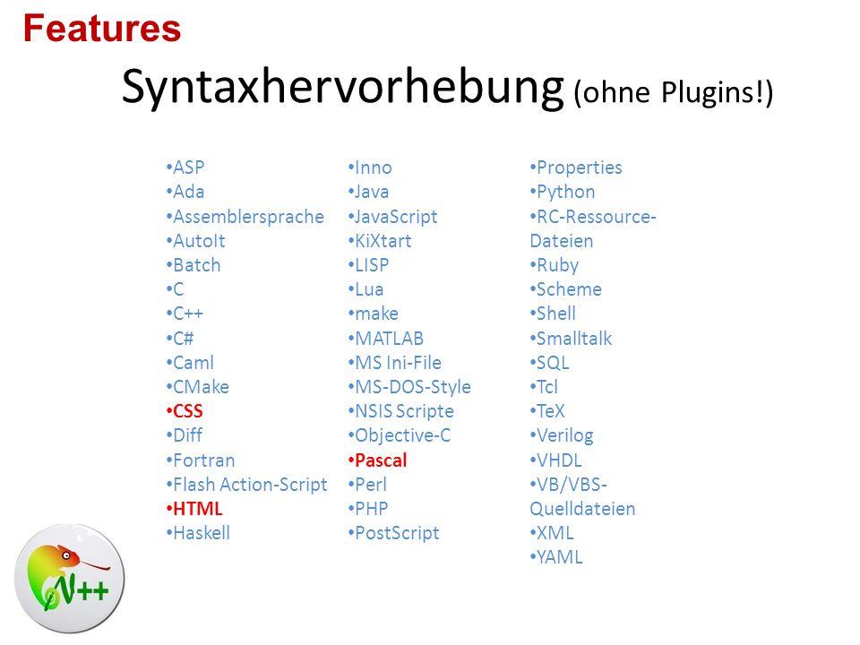 Syntaxhervorhebung (ohne Plugins!)