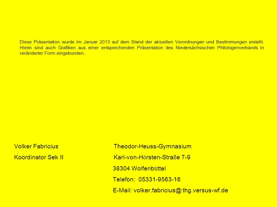 Volker Fabricius Theodor-Heuss-Gymnasium