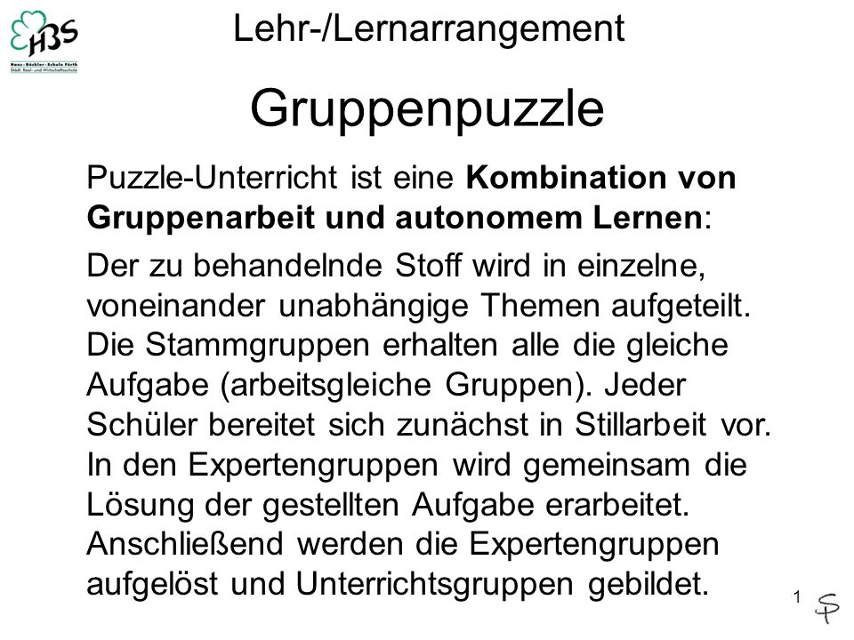 Lehr-/Lernarrangement