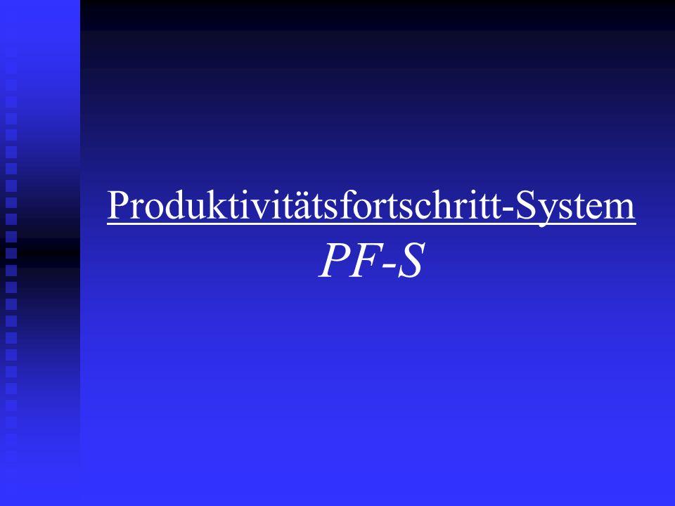 Produktivitätsfortschritt-System PF-S