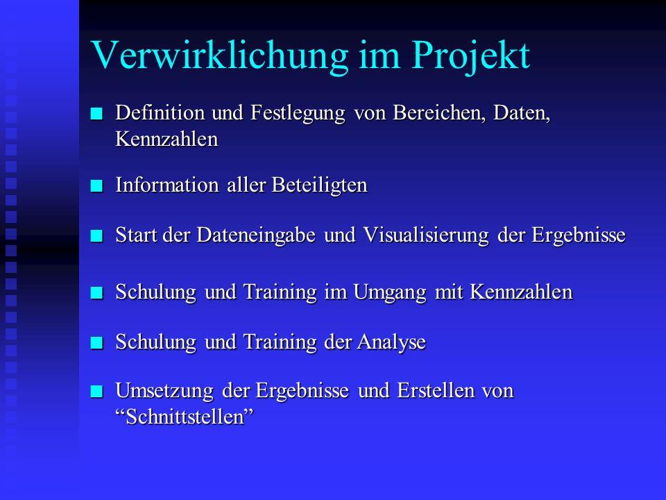 Verwirklichung im Projekt