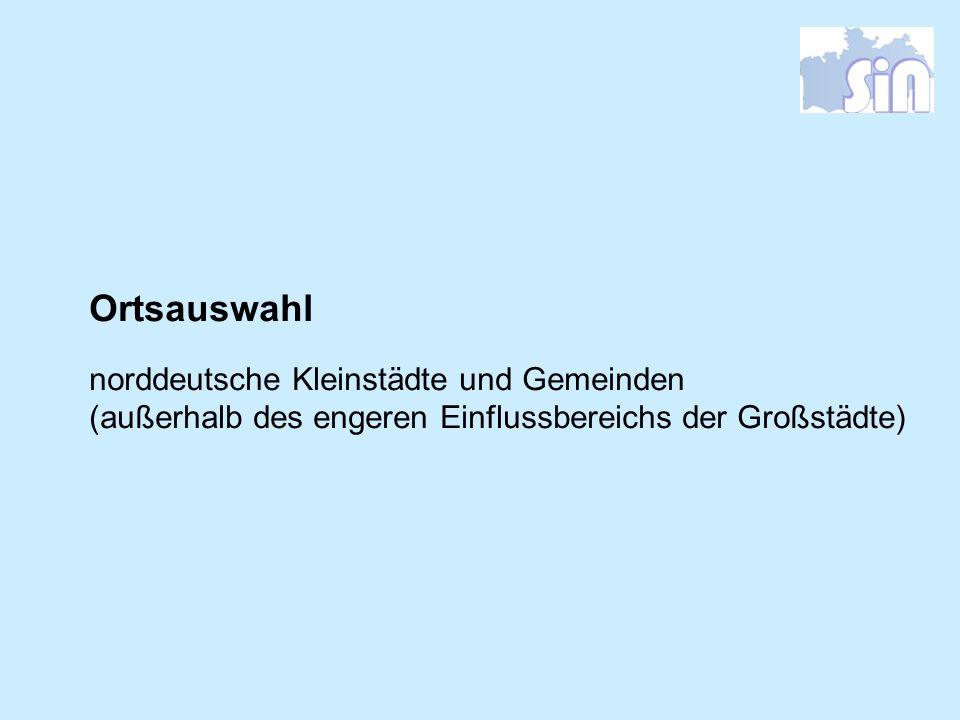 Ortsauswahl norddeutsche Kleinstädte und Gemeinden