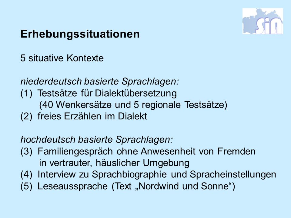 Erhebungssituationen