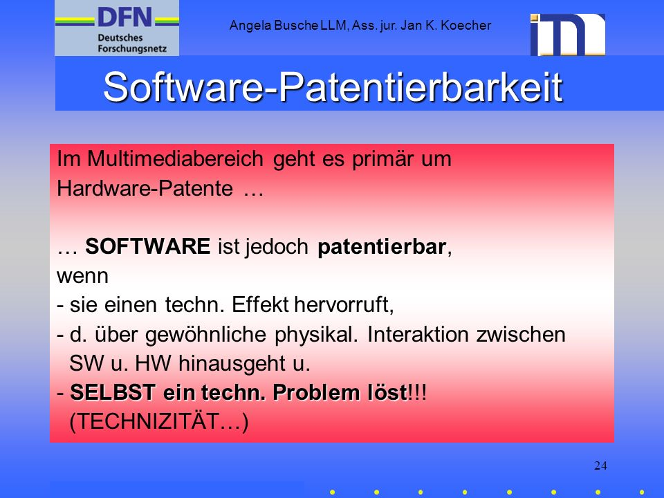 Software-Patentierbarkeit