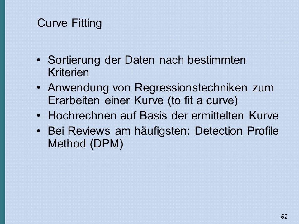 Sortierung der Daten nach bestimmten Kriterien