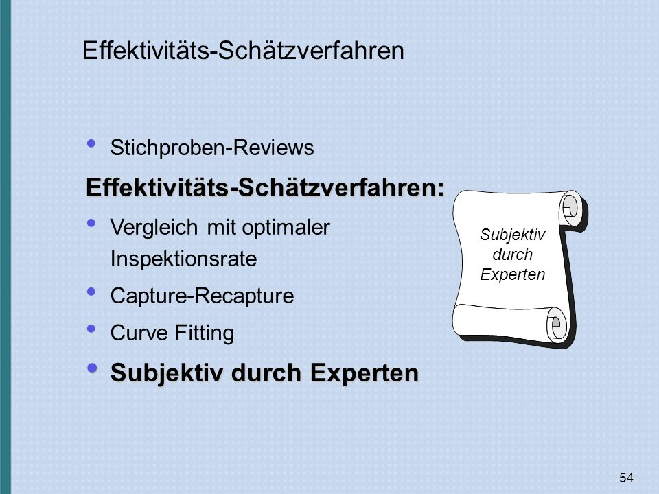 Effektivitäts-Schätzverfahren