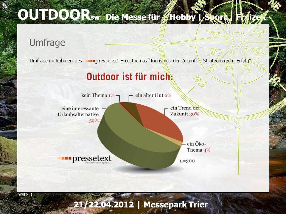 Umfrage Umfrage im Rahmen des pressetext-Focusthemas Tourismus der Zukunft – Strategien zum Erfolg