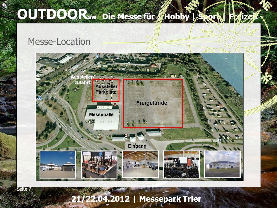 Messe-Location Freigelände Aussteller- zufahrt Aussteller Parkplatz