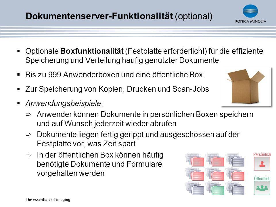 Dokumentenserver-Funktionalität (optional)