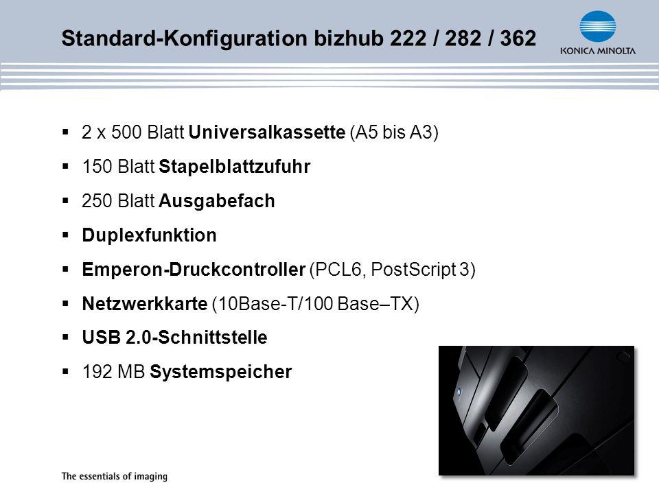 Standard-Konfiguration bizhub 222 / 282 / 362