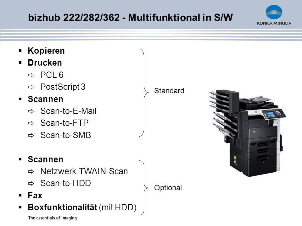 bizhub 222/282/362 - Multifunktional in S/W