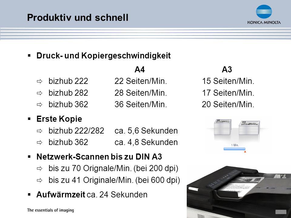 Produktiv und schnell Druck- und Kopiergeschwindigkeit A4 A3