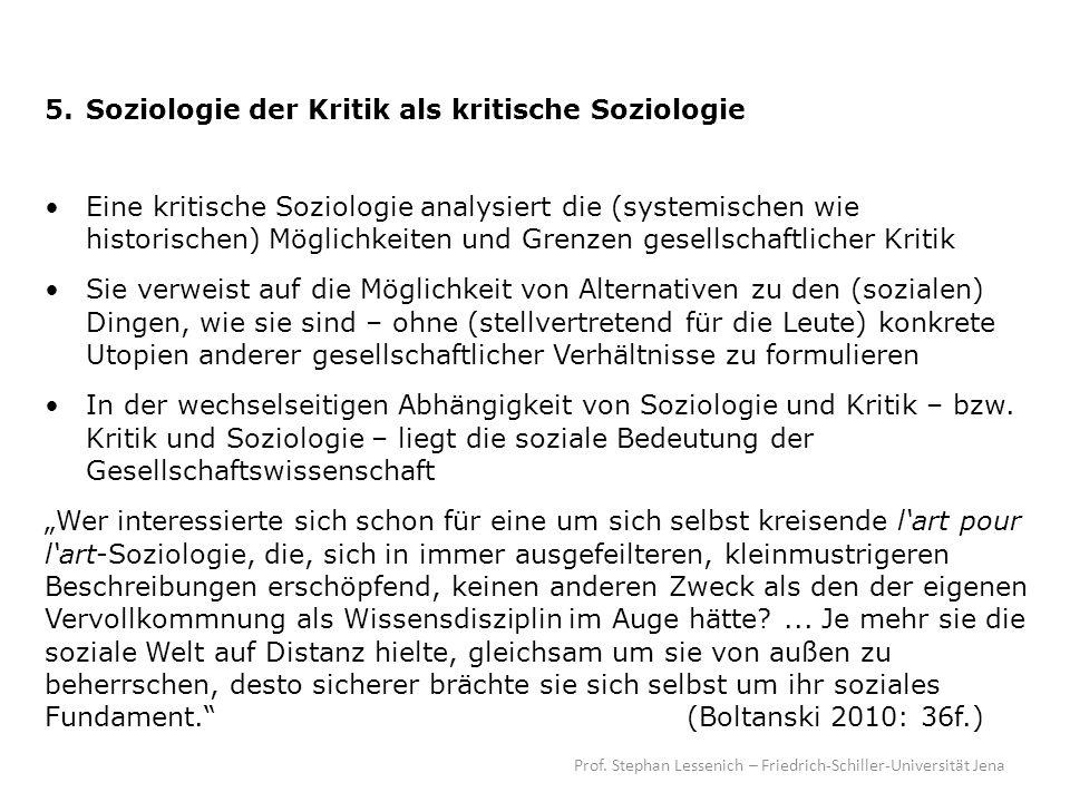 5. Soziologie der Kritik als kritische Soziologie