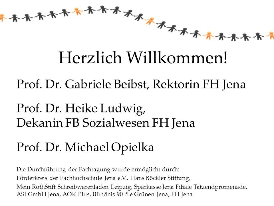 Herzlich Willkommen! Prof. Dr. Gabriele Beibst, Rektorin FH Jena