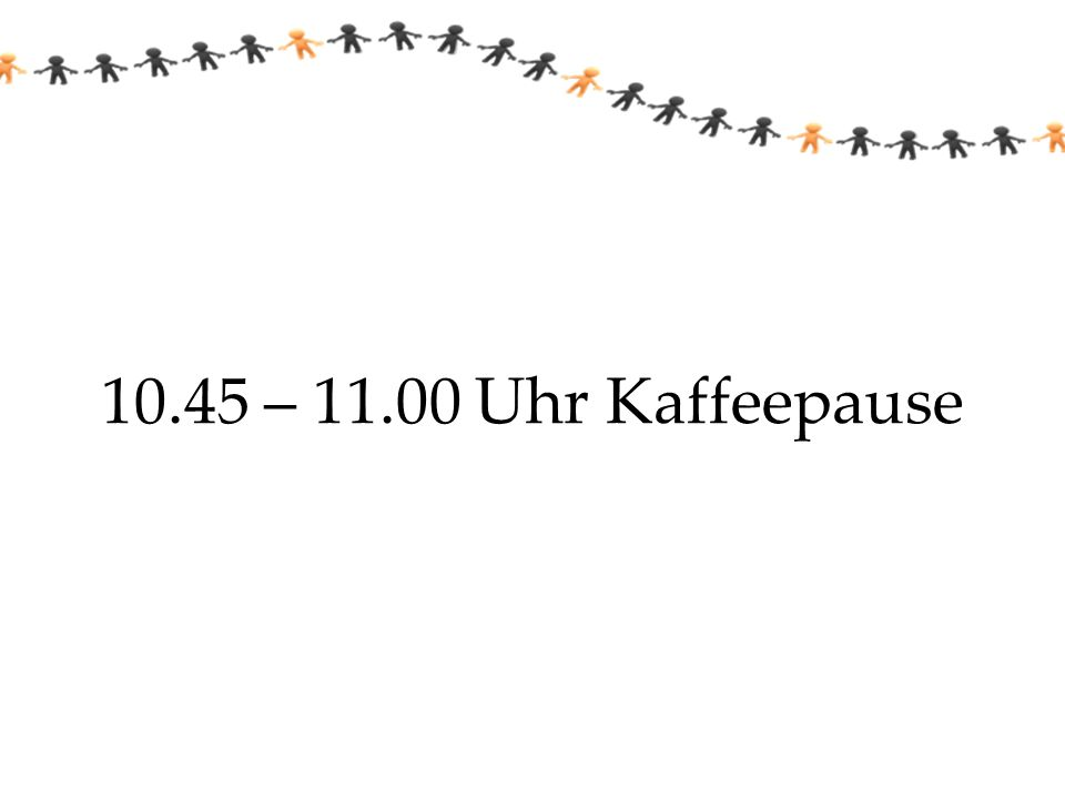 10.45 – 11.00 Uhr Kaffeepause