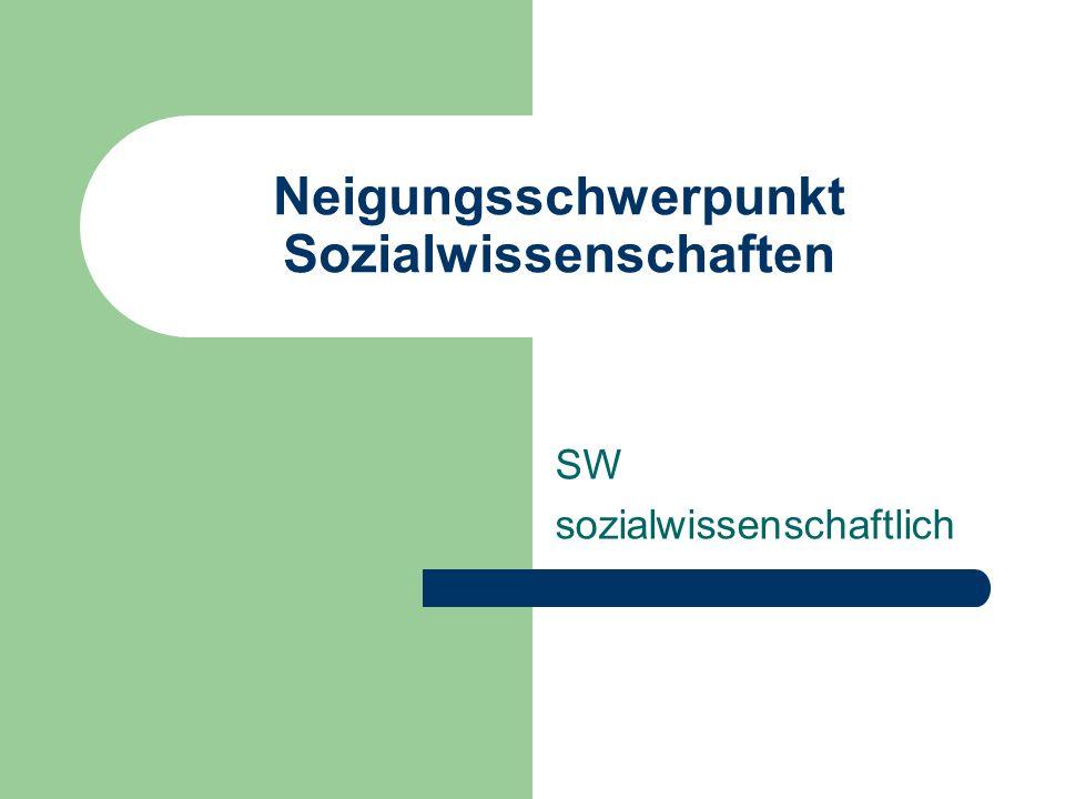 Neigungsschwerpunkt Sozialwissenschaften