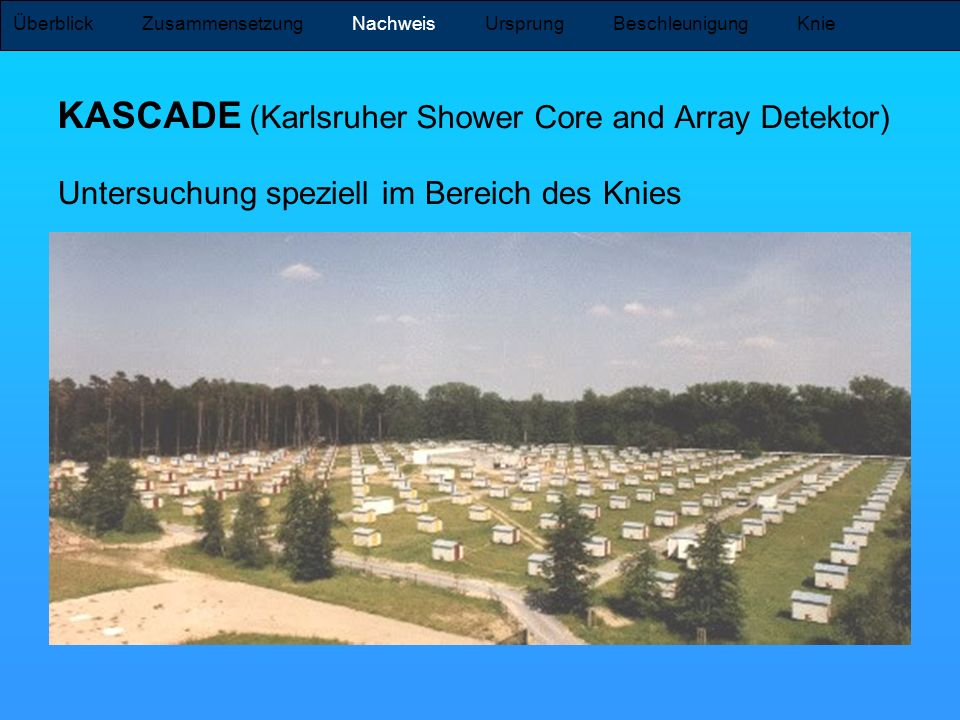 KASCADE (Karlsruher Shower Core and Array Detektor)